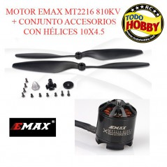 MOTOR EL. BRUSHLESS 810KV + 10X4.5SF EMAX CW